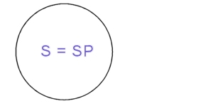 circle containg text S=SP